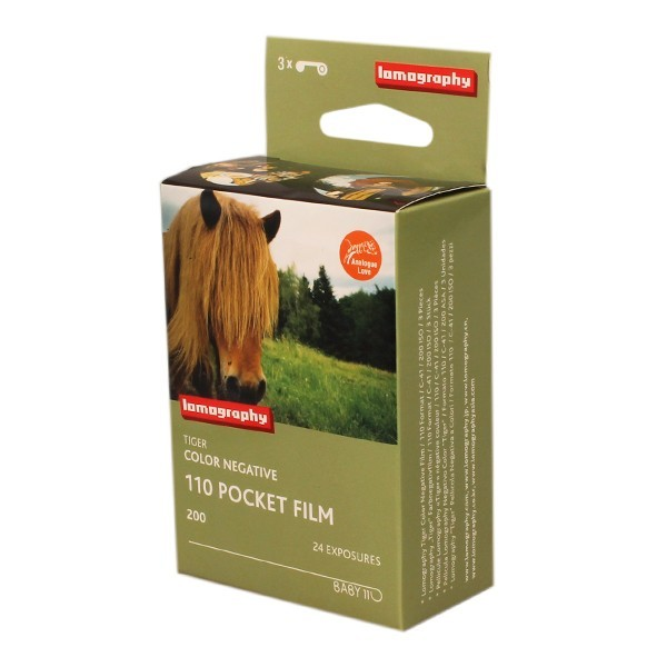 LOMOGRAPHY 110 TIGER COLOR NEGATIVE FILM 200 x3