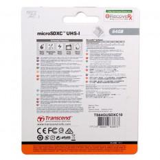CARTE MICRO SD TRANSCEND 64GO CLASS 10 UHS-1