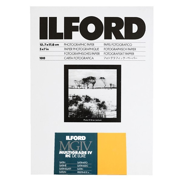ILFORD MULTIGRADE IV RC DELUXE 13X18 SATINÉ 100 FEUILLES