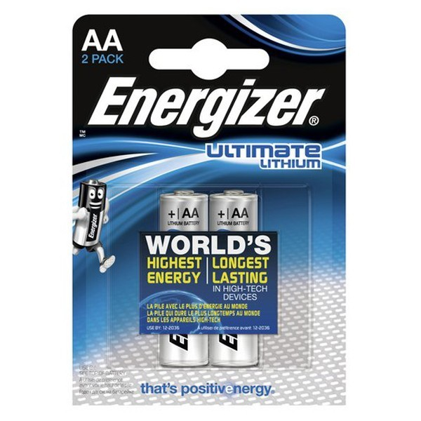 2 PILES ENERGIZER AA LITHIUM Ultimate