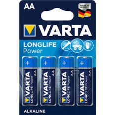 4 Piles VARTA AA/LR06 Alkaline LONGLIFE