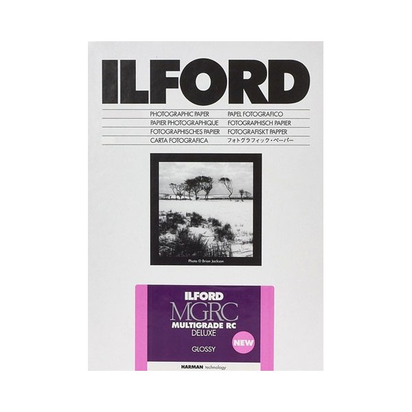 ILFORD MGRC DELUXE 13X18 BRILLANT 25 FEUILLES